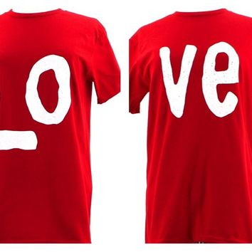 LOVE Mr & Mrs His and Hers Gift for Couples Wedding, Anniversary, Match T-Shirts