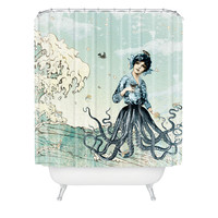 Belle13 Sea Fairy Shower Curtain