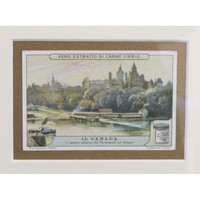 Pre-owned Early 1900s Framed Italian Collector Card, Canada