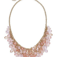 Charter Club Gold-Tone Pink Shaky Bead Bib Necklace