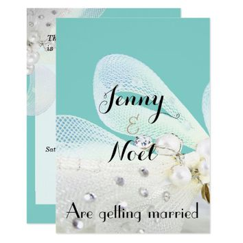 Tiffany Blue and Lace Wedding Invitation