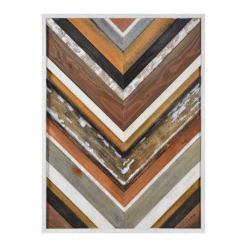 Renwil June 51-Inch x 38-Inch Framed Wooden Wall Decor