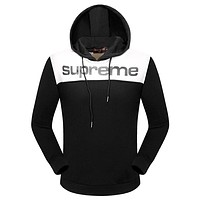 Supreme X Louis Vuitton Women or Men Fashion Casual Hooded Top Sweater Pullover
