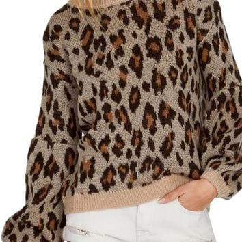 Amuse Society Go Wild Leopard Print Sweater | Nordstrom
