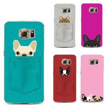 There's a Pet in Your Pocket - Puppy & Kitty Soft Cases for iPhone 4 4S 5 5C 5S SE 6 6S 7 7S Plus X 8 Case Cat Dog For Samsung Galaxy J1 J2 J5 J7 S5 S6 S7 Edge S8 Plus 2015 2016 2017