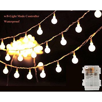 String Lights, 13Ft 40LED Starry Fairy Light for Garden, Wedding, Xmas Party, Battery Operated with 8 Modes Warm White