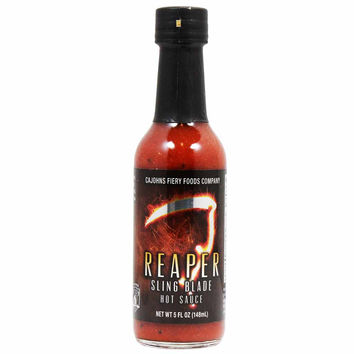 Carolina Reaper Sling Blade Hot Sauce by CaJohns 5 oz