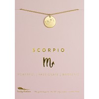 Lucky Feather Scorpio Zodiac Sign Constellation Necklace