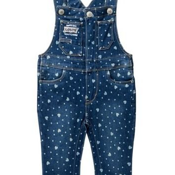 Levi's | Hearts Overall (Baby Girls) | Nordstrom Rack