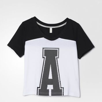 "adidas Colorblock ""A"" Tee - White 