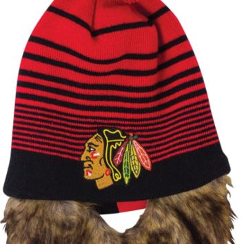 Chicago Blackhawks Bertram Knit Hat With Removable Beard
