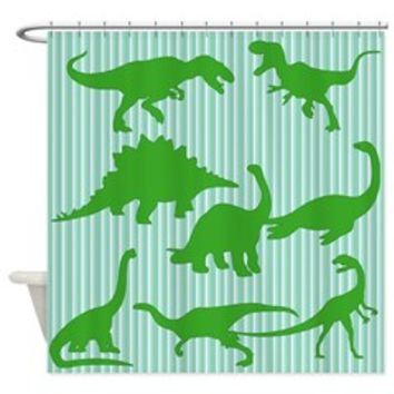 Dinosaurs Green Shower Curtain> Shower Curtains > Scarebaby Design