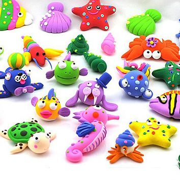 12 Oven Bake Polymer Clay Modelling Moulding Block Art Design Playdough Play Dough Mixed Color Plasticine Mold Set Kit