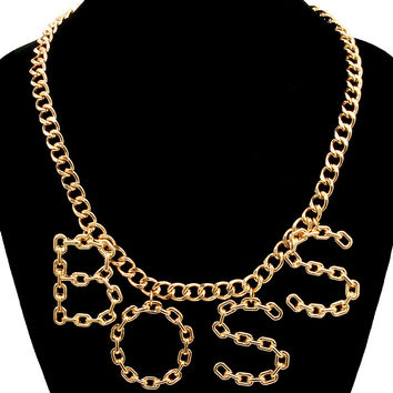 Boss chain statement necklace