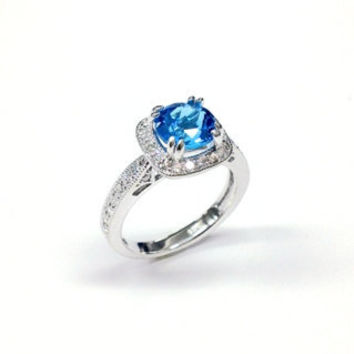 1.50 ct London Swiss Blue Topaz Promise Ring