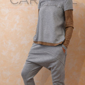 Sweatshirts/Tops/Woman's sweatshirts/Drop Crotch Pants/Pants baggy/Harem Pants by CARAMEL fs - SET 5015