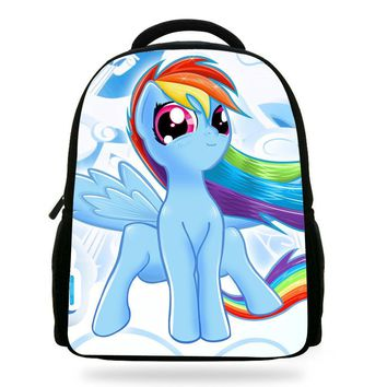 14Inch Popular Kids Cartoon School Bag Girl My Little Pony Backpack For Children Boys Teenagers