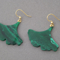 Hand Cut Ginkgo Leaf Earrings