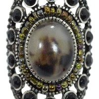 Vintage Steampunk Inspired Mystic Oval Faux Stone Ring