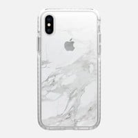 Casetify iPhone X Impact Case - MARBLE GRADIENT | WHITE #9 by leeann visser