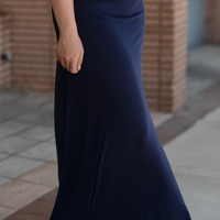 Magnificent Maxi Skirt Navy