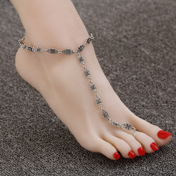 Anklets Retro Flowers Toe Ring