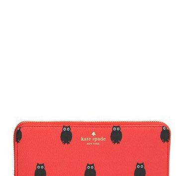 kate spade new york 'hawthorne lane - owls lacey' zip around wallet | Nordstrom