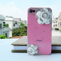 iPhone  4 case  iPhone cover 4 color Camellia flowers Pink case  phone case   loves iphone case  cell phone cases and covers