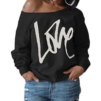Big Love Off Shoulder Sexy Long Sleeve Top