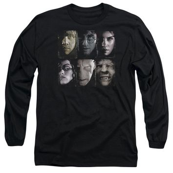 Harry Potter - Horizontal Heads Long Sleeve Adult 18/1 Officially Licensed Shirt