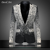 Men's Dress Blazer Fashion Business Suit Jackets Ribbon Blazer Slim Veste Homme Mariage Free Shipping Plus Size:5XL 6XL 9882