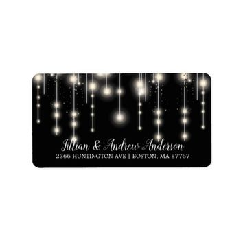 Elegant String Lights Return Address Label
