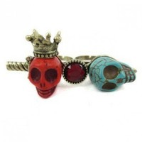 Crown skull ring   style zz920022 in  Indressme