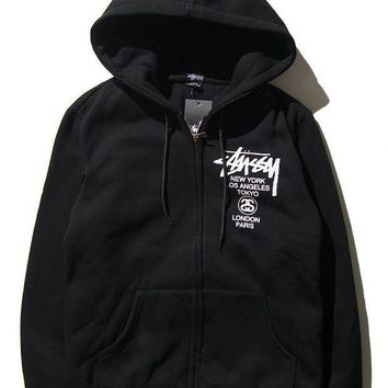 Stussy Winter Men's Fashion Hats Zippers Casual Jacket [103857618956]