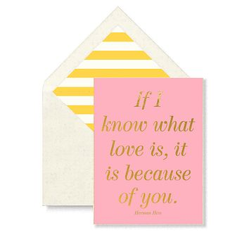 If I Know What Love Is Greeting Card, Single Folded Card or Boxed Set of 8