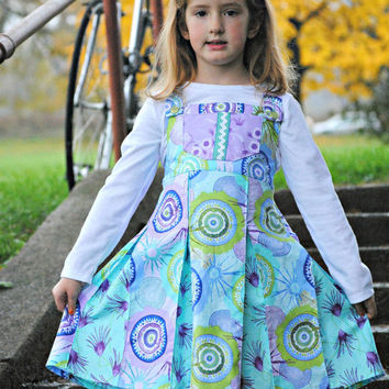 Girl's Pleated Jumper Dress, Girl Dresses, Children Clothing, Toddler Dress, Purple, Pinafore Dress, Size 2T 3T 4T 5 6 7 8 9 10