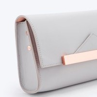 Bing Bang X UO Leather Cross-Body Bag in Grey - Urban Outfitters