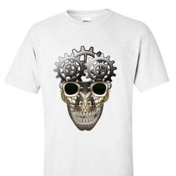 Steampunk Gear Head Skull Fashion Apparel