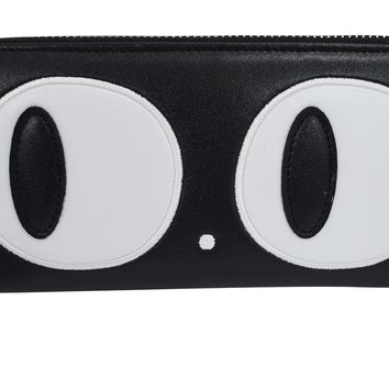 Nugoth Kawaii Gothic Kitty Cat Big Eye retro Black Wallet
