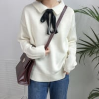 Knitted Bowtie Sweater KF30150 - unzzy