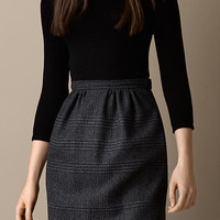 Check Skirt Shift Dress