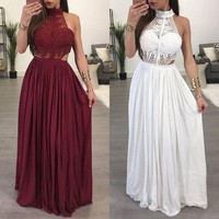 Women Maxi BOHO Summer Long Evening Party Dress Beach Dress Sundress
