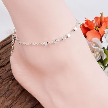 Handmade Bohemia Anklet Square Beads