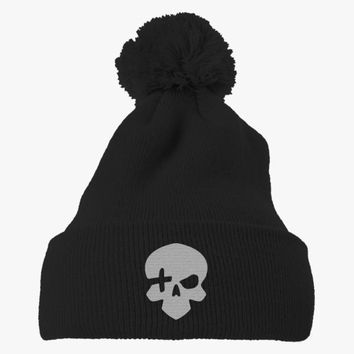 High Noon Embroidered Knit Pom Cap