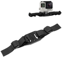 Helmet Strap Mount for GoPro HD Hero 2 3 3+ 4 for Cycling Snowboarding Racing and any other Outdoor Sports