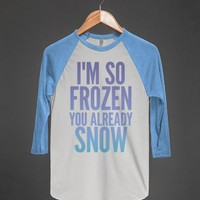 White/Lake Blue T-Shirt | Funny Disney Frozen Shirts
