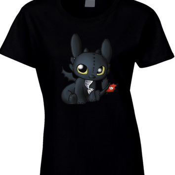 Toothless How To Train Your Dragon Womens T Shirt