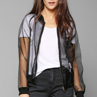 Faubourg Du Temple Cannes Sheer Bomber Jacket - Urban Outfitters