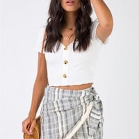 Santo Summer Wrap Skort Blue
