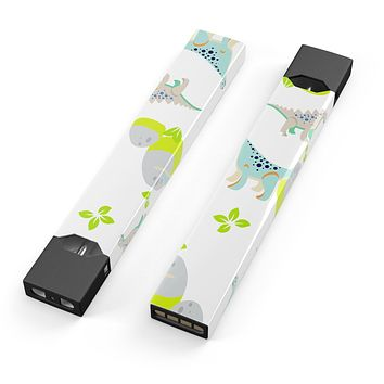 Skin Decal Kit for the Pax JUUL - Curious Teal Dinosuar and Eggs